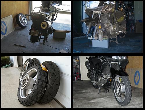The Suzuki gets new tires